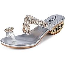 CLEARANCE SALE! MEIbax Frauen Sandalen Flip Flop Mode Strass Keile Schuhe Kristall High Heels Schuhe