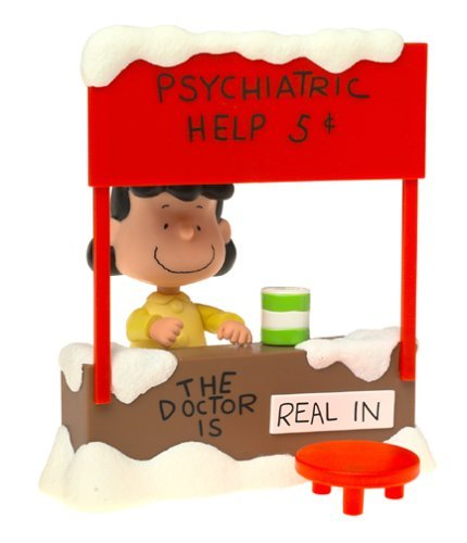 Peanuts Lucy Van Pelt with Psychiatric Mood Booth Playset - The Doctor is In! A Charlie Brown Christmas by Charlie Brown Christmas (Peanuts Lucy Von Den)