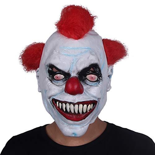 YKQ WS Clown Latex Maske und Haar Halloween Scary Horror Dress up, Kostümfest Kostüme