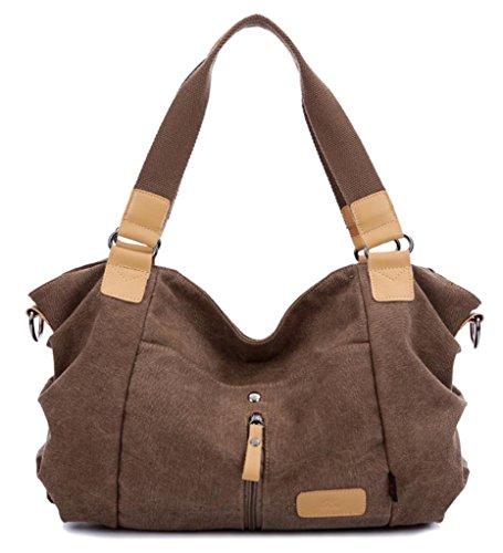 Auspicious beginning Hallyu neuen Stil Kontrastfarbe Freizeit mit hoher Kapazität braun Umhängetasche Handtasche Braun