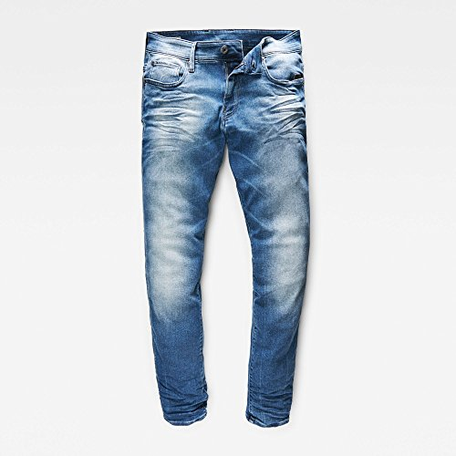 G-STAR RAW Herren Jeans Revend Super Slim Blau (light aged)