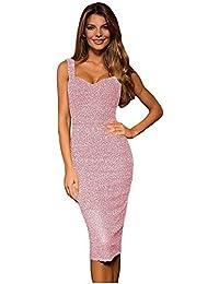 Amazon Abbigliamento Vestiti Seta Donna Rosa it 6rwAq6R