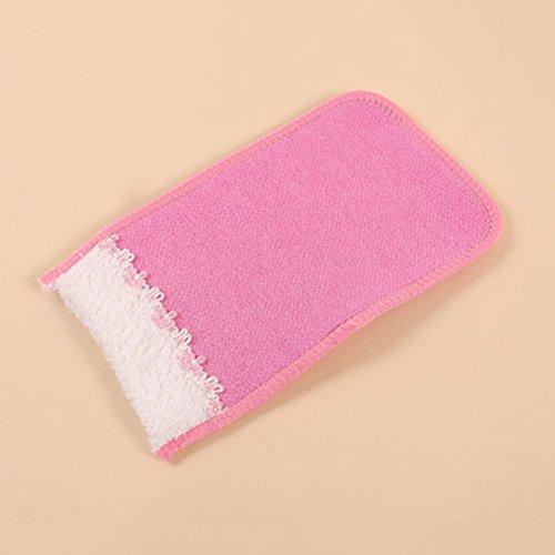 Lurrose 3Pcs Bad Exfolating Scrubber Qualität No Irritation Rayon Body Pins Premium Waschlappen Mitt für die Sauna Badedusche -