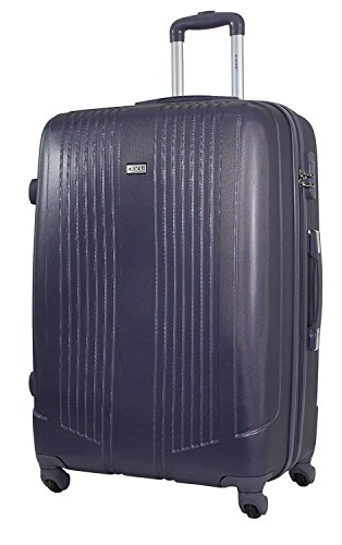 Valise Grande Taille 75cm - ALISTAIR Airo - ABS ultra Léger - 4 roues (Black Grey)