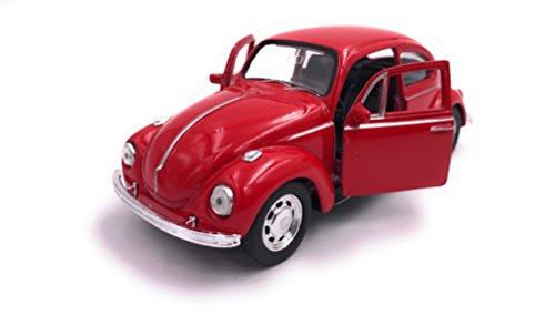 Escarabajo Welly VW Escarabajo Modelo Auto Auto Producto con licencia 1: 34-1: 39 OVP rojo