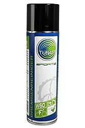 TUNAP SPORTS Bremsenreiniger | Perfekte Reinigung Aller Fahrrad Bremsen | Entfernt alle fetthaltigen Verschmutzungen, die die Bremsleistung beeinträchtigen - W60 (altes Design) | 500 ml - bis 2016