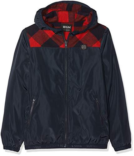 Reversible Jacke (Scotch & Soda Shrunk Jungen Jacke Reversible Jacket with Contrast Check Parts Mehrfarbig (Combo A 21) 140 (Herstellergröße: 10))