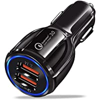 Davilis® Caricatore USB da Auto 5V 6A Universale Quick Charge 3.0 Veloce Caricabatterie Alimentatore Presa USB 2 Porte…