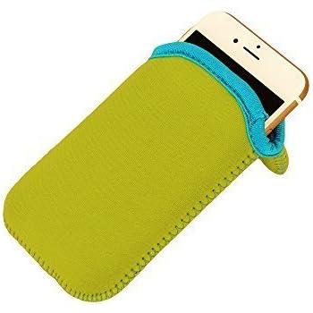 Neopren Sleeve für iPhone 6 und iPhone 7 in Grün, bzw. für alle größeren Smartphones als Danke Geschenk