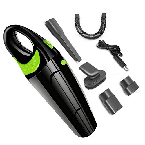 Prom-note Aspiradora de Mano Sin Cable - Aspirador Ciclónica de Mano Inalámbrica 4000pa, Cable de Carga USB Aspiradora Coche hogar Uso Dual