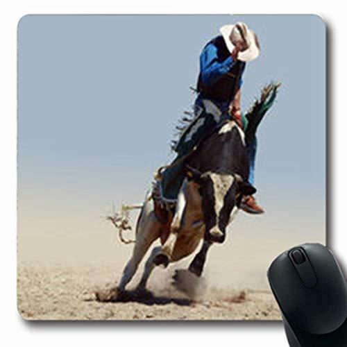 Luancrop Mousepads Hörner Cowboy Reiten Fresian Bull Arena Clipping Wildlife Sport Erholung Hut Oblong Gaming Mouse Pad rutschfeste Gummimatte