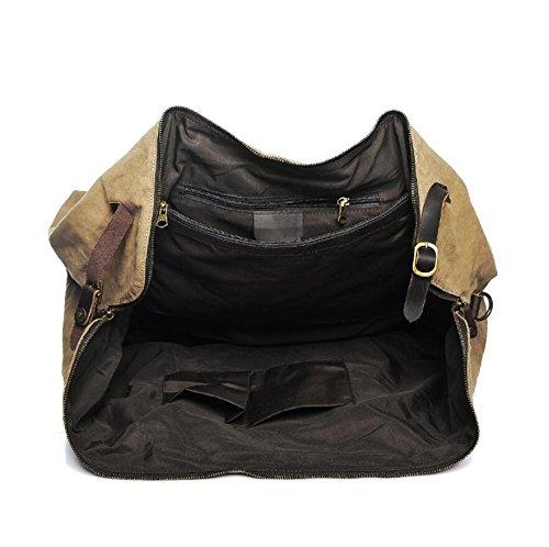 LF&F 40-50L GroßE KapazitäT Retro- QualitäTsspielraumbeutel Handtasche Slingbeutel Schulter Kurierbeutel Multifunktion Camping Reitsport-Sport Tasche B