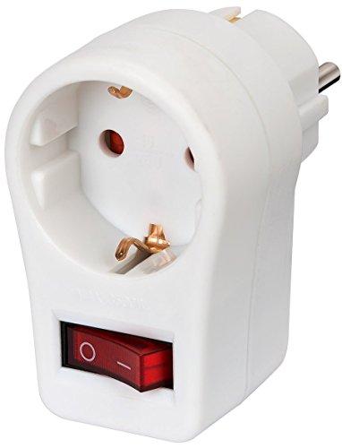 Preisvergleich Produktbild 4er Packung Brennenstuhl Adapterstecker Schutzkontakt mit Schalter, 1508070
