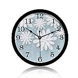 Womdee Reloj de Pared para Mujer, silencioso, diseño Floral, Estilo Vintage, de Cuarzo, Funciona con Pilas, para Cocina, Dormitorio, Sala de Estar o Aula.