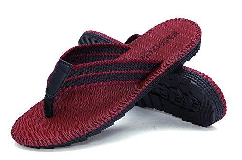 Wealsex Herren Flip Pantoffeln sommer schuhe Rot