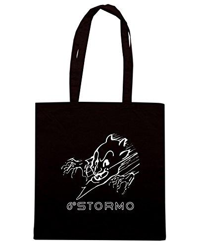 T-Shirtshock - Borsa Shopping T0857 sesto stormo militari Nero