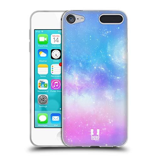 Head Case Designs Blau Galaxie Pastell Soft Gel Huelle kompatibel mit Apple iPod Touch 6G 6th Gen (32gb Ipod Touch Blau)