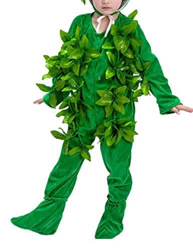 er Baum Performance Kleidung - Party Bühne Cosplay Unisex Halloween Prop(Grün Lang 130CM) ()