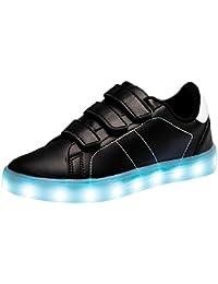 Santiro Mixte Enfants Garçon Fille Led Lumière Lumineux Clignotant Chaussures USB Rechargeable.