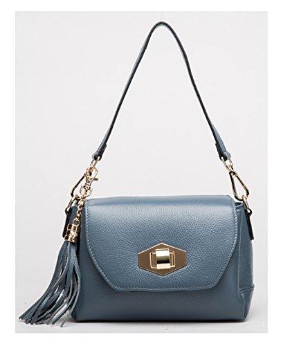 Keshi Cuir Nouveau style - Sac à main femmes - Porté MAIN et EPAULE Bleu