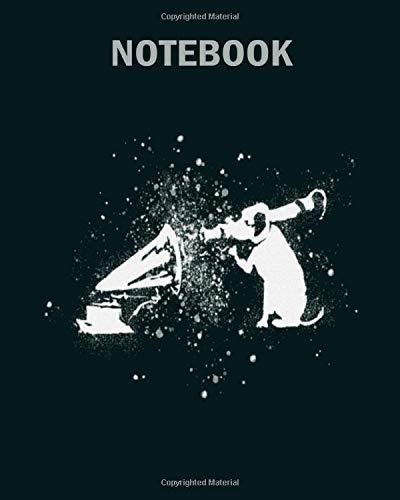 Notebook: banksy rocket dog hmv splash paint artwork1 - 50 sheets, 100 pages - 8 x 10 inches