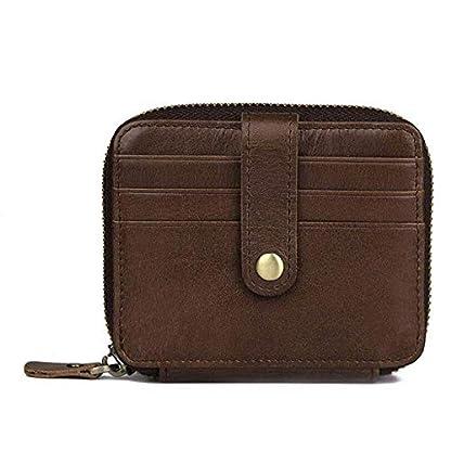 41UmzF4 lyL. SS416  - TIDING Paquete de tarjetas de cuero Organ Organ Style Card Package Coin Purse Key Bag RFID Card Package
