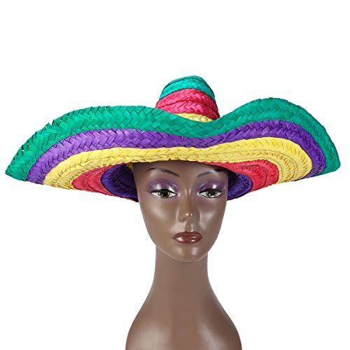 mexikanischen Strohhut Hawaii gewebt Strohhut Fiesta Style Dressing Up Kostüm Zubehör für Hawaii Tropical Theme Party Supplies ()