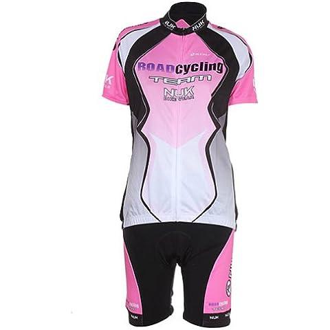 Ciclismo para bicicleta ropa camiseta jersey + shorts S-XL para mujeres.
