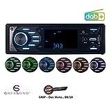 Creasono 1DIN Autoradio: MP3-Autoradio mit DAB+, Bluetooth & Freisprech-Funktion, 4X 45 Watt (DAB Autoradios mit MP3, Bluetooth)