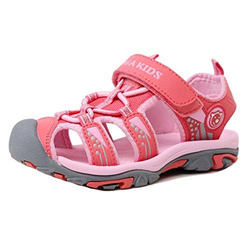 Juleya Sandali estivi estivi di estate di chiusura delle scarpe da spiaggia piatta per i ragazzi unisex Boys Rosa