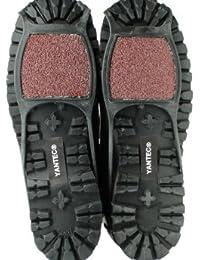 Yantec® Spikes für Schuhe, schwarz (Sandapier Antirutschhilfe) Größe M (ca. 36-38) Schuhspikes, auch für höhere Absätze