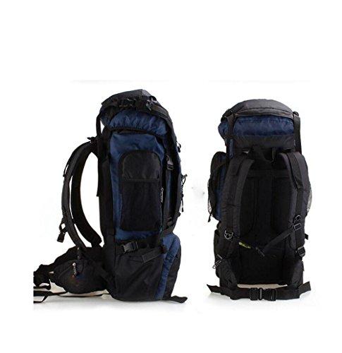 70L Borsa Da Montagna All'Aperto Impermeabile Uomini E Donne In Viaggio Sullo Zaino Grande Capacità Multifunzione , Black blue
