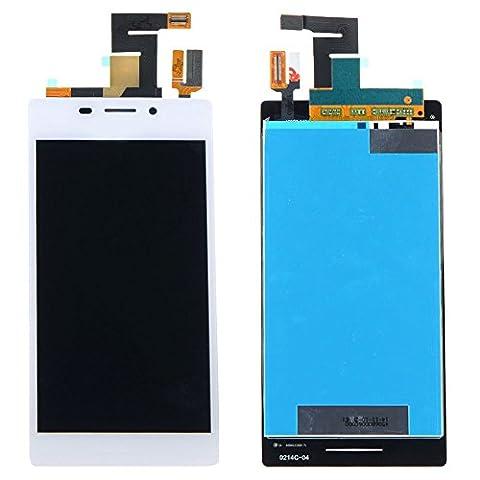 ixuan Vitre Tactile Ecran LCD Assemblé de Rechange pour Sony Xperia M2 D2302 D2303 D2305 D2306 Blanc avec