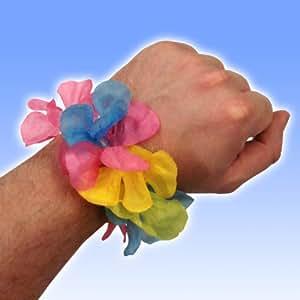 10 Tropical Party Hawaiian Flower Lei Leis Bracelets