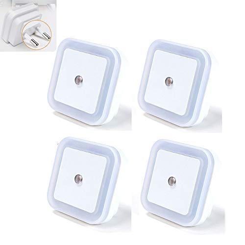 FZYUAN Motion Sensing Nachtlicht Light Intelligente LED Sensor Licht Mini Light Energiesparlampe Für Wohnzimmer, Flur, Treppen (4PCS),White - Motion-sensing-licht Leuchte