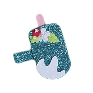 Aiqingse Attraktive Kinder Haare Clips Haare Ornamente Fruchtförmige Haarnadel Mädchen Accessoires(None Ice Cream)