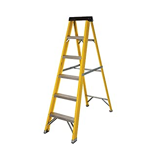 Abbey Fibreglass Swingback Step Ladder 6 Tread