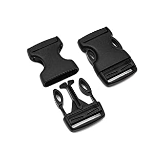 Steckschnalle 20mm Schwarz gerade Typ C POM Acetal [10 Stück] HEAVYTOOL Steckverschluss Klippverschluss Klickverschluss