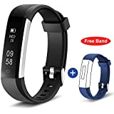 HolyHigh Waterproof Smart Fitness Tracker Band Health Watch with Heart Rate Monitor Track 14 Sports for Men Women Kids