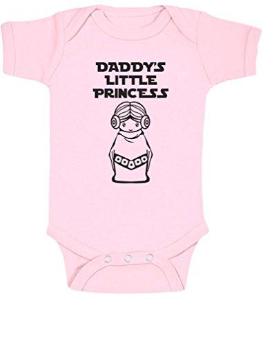 Daddy 's Little Princess Cute Girl Día Del Padre Idea de regalo body de Grow chaleco bebé Onesie Rosa rosa 12 - 18 months