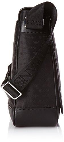 Armani Jeans Messenger Herren Schultertasche Schwarz Schwarz (NERO 00020)