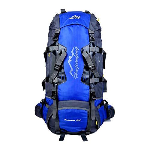 DYYTR Haltbar, wasserdichter Outdoor-Wandereinlauf, Atemschutz-Wasserfahrzeuge-Rucksack für Männer und Frauen Camping Rucksäcke (blau 80L)