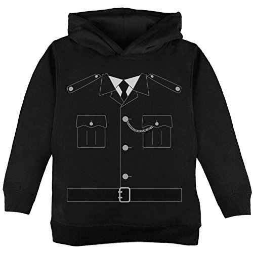 Halloween britische Bobby Kupfer Polizei Kostüm Kleinkind Hoodie Black 4 (Kostüm Polizei Für Officer Baby)