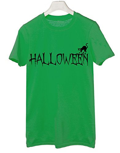 Tshirt happy halloween - trick or treat - boo scherzo humor - Tutte le taglie by tshirteria Verde