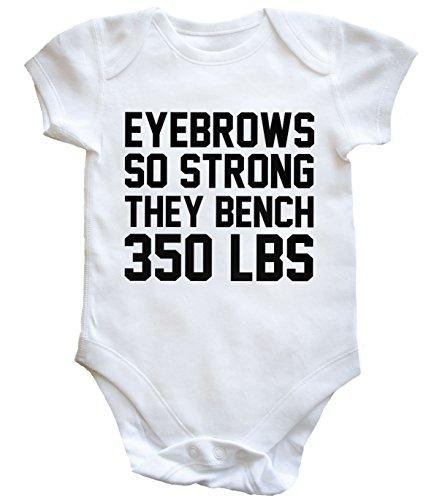 hippowarehouse-eyebrows-so-strong-they-bench-350-lbs-body-bodys-pijama-nios-nias-unisex