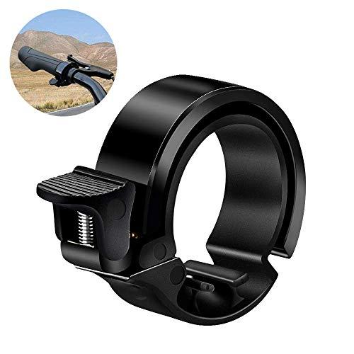 Fahrradklingel Laut , synmixx Universal Fahrradglocke 90dB Lauten Sound Mini Fahrradklingel, Fahrrad Ring für Alle Lenker Berg, mit Durchmesser von 22mm-38mm - Schwarz