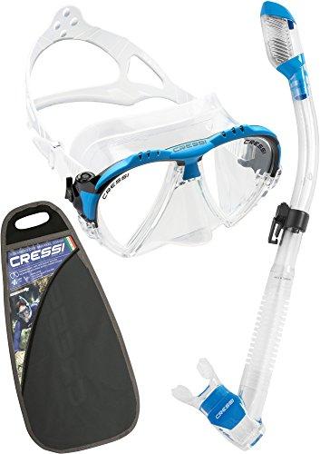 Cressi Matrix Dry - Kit de snorkeling con máscara y tubo unisex, color azul