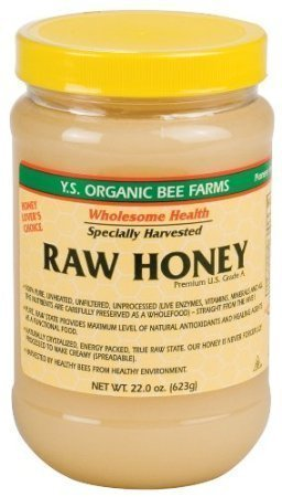 Y.S. Eco Bee Farms Raw Honey - 22 oz Pack of 3 by YS Royal Jelly/Honey Bee -