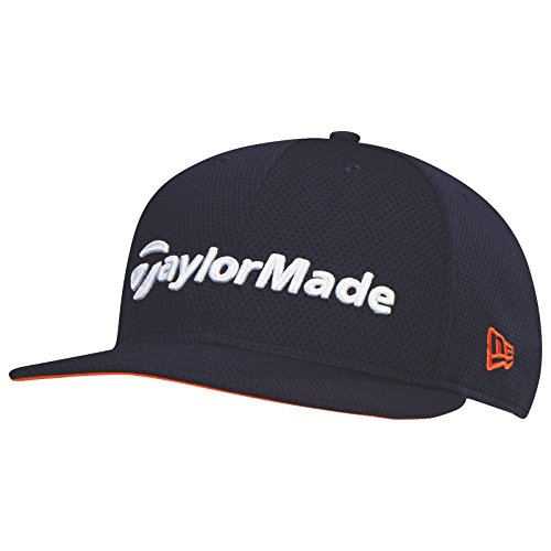 taylormade-2017-performance-new-era-tour-9fifty-flat-bill-hat-structured-mens-snapback-golf-cap-navy