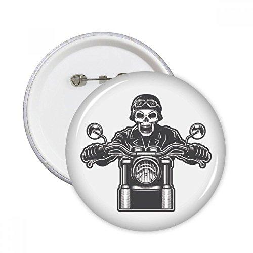 DIYthinker Motorrad Skeleton Lichter Goggles Muster Runde Stifte Abzeichen-Knopf Kleidung Dekoration 5pcs Geschenk Mehrfarbig S